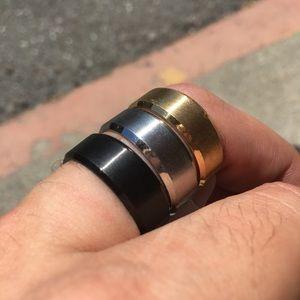 Men's Titanium Ring- Gold- Sz 10, 11